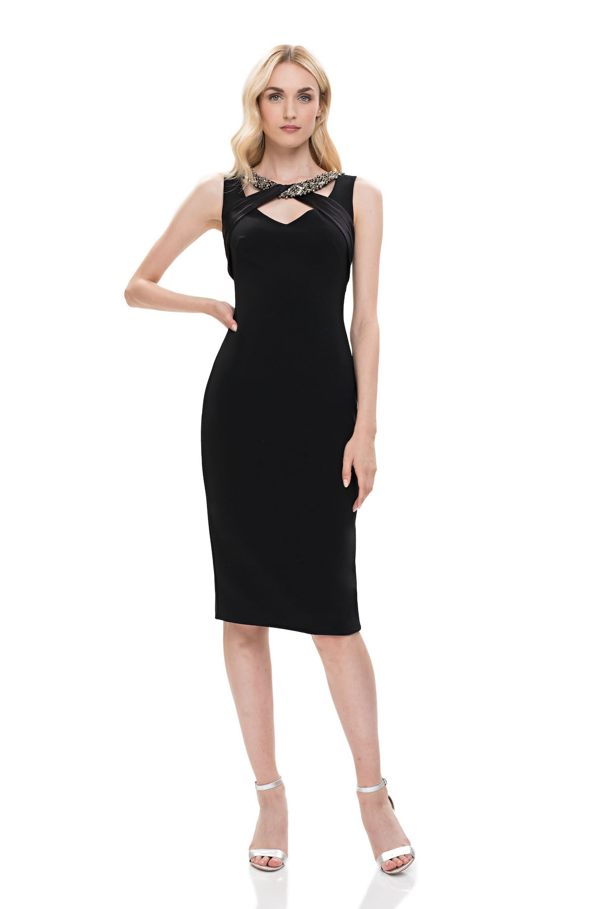 c823cad6a74 Sleeveless Crepe Cocktail Dress – THEIA