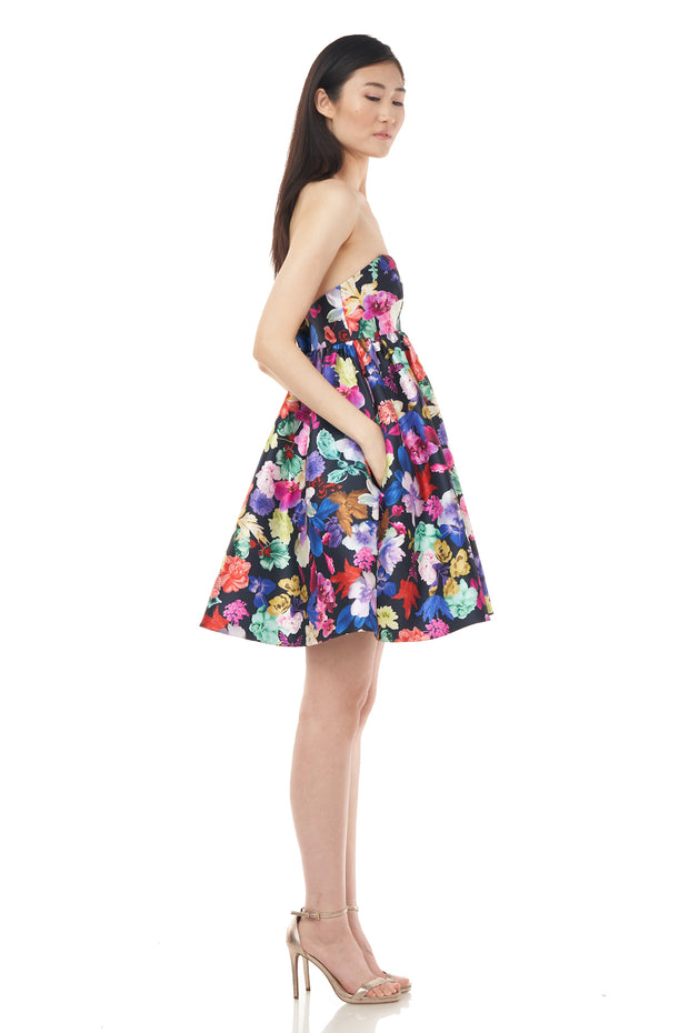 Printed Mikado Cocktail Dress