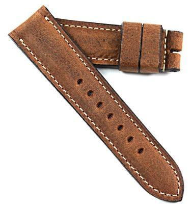 "MP XXI ""Absolutely Mario"" vintage leather made for a Panerai Tang buckle - Mario Paci Straps"