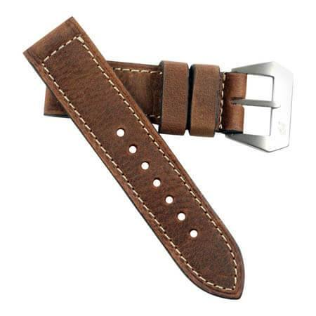 "MP XXI ""Absolutely Mario"" vintage leather with Natural Pre-V buckle - Mario Paci Straps"