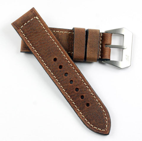 "MP XXI ""Absolutely Mario"" vintage leather with Natural Pre-V buckle"
