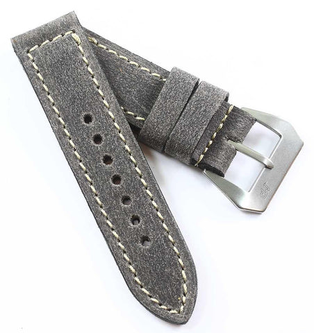 MP Special Edition Grey Distressed with MP sewn in Natural buckle