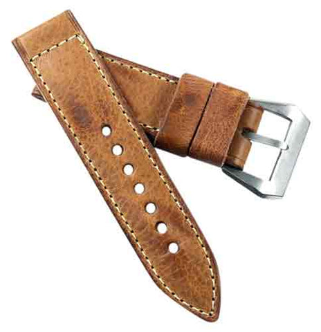 MPSE Olterra Legendary leather in light brown with a sewn in Olterra Pre-V buckle