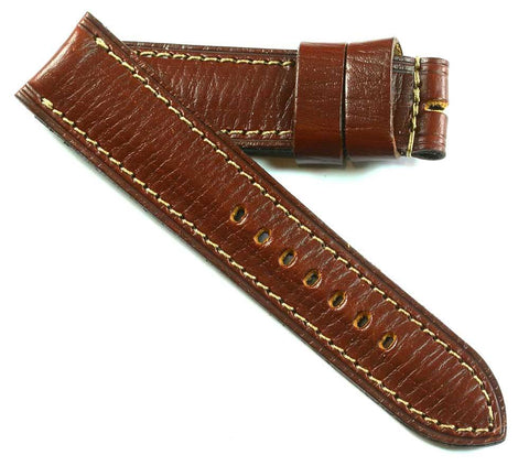 MP PAV 91 Original Panerai strap leather in Bourgogne for a Tang buckle - Mario Paci Straps
