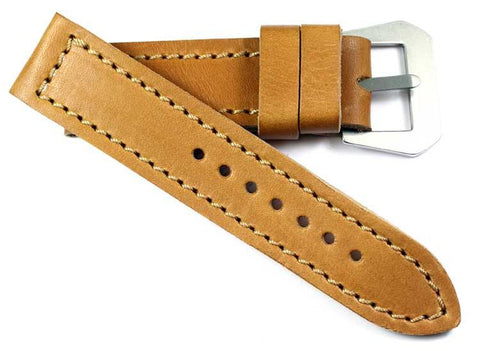 "MP ""Produzione Originale"" 1938 leather with GPF-MOD flat engraved buckle - Mario Paci Straps"