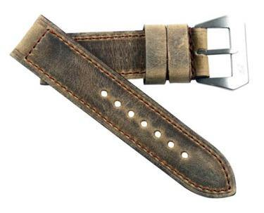 "Mario Paci XXIII ""Sogno di Tempo"" in Tan Nubuck Distressed with sewn in buckle - Mario Paci Straps"