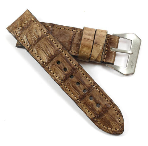 Mario Paci Limited Edition Vintage Alligator with sewn in MP buckle - Mario Paci Straps