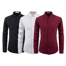 Load image into Gallery viewer, PACK OF 03 MEN'S CASUAL SOLID COLOR SHIRT FOR MEN