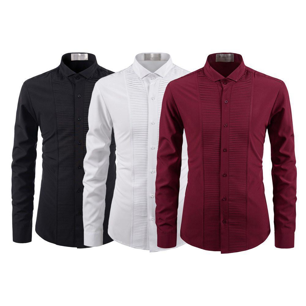 PACK OF 03 MEN'S CASUAL SOLID COLOR SHIRT FOR MEN