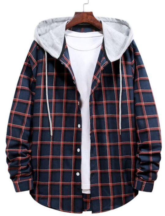 New arrival men hooded shirt