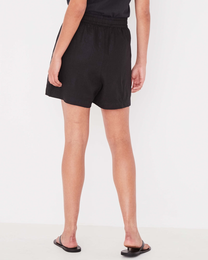 ASSEMBLY LABEL Ease Linen Short BLACK-Assembly Label-Frolic Girls