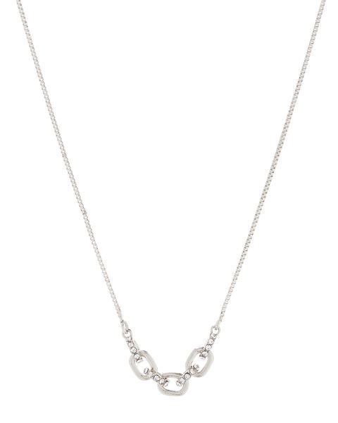 LUV AJ Blair Chain Charm Necklace SILVER-Luv Aj-Frolic Girls