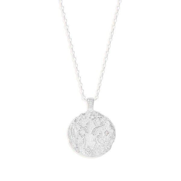 BY CHARLOTTE Capricorn Zodiac Necklace SILVER-By Charlotte-Frolic Girls