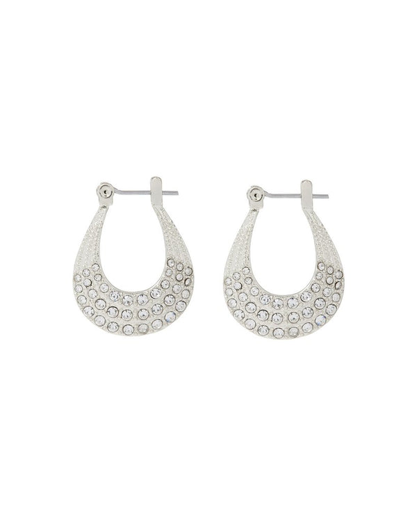 LUV AJ The Diana Pave Hoops SILVER-Luv Aj-Frolic Girls