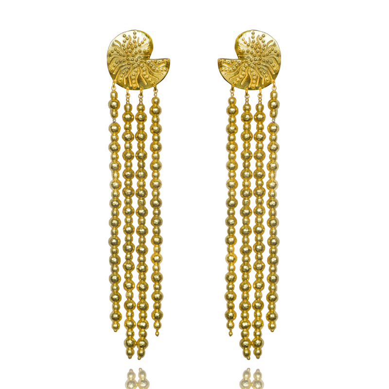MOUNTAIN AND MOON Evia Chandelier Earring-Mountain and Moon-Frolic Girls