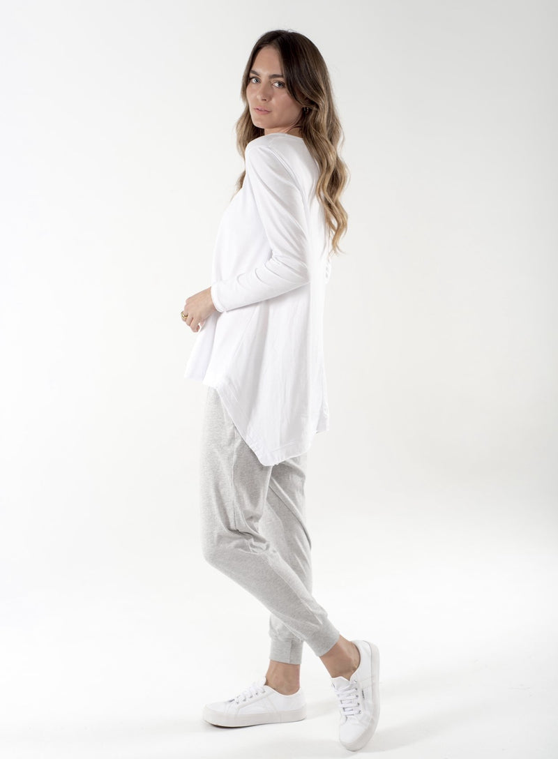 CLÉ Juliet Long Sleeve WHITE-Clé-Frolic Girls