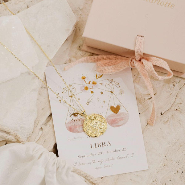 BY CHARLOTTE Libra Zodiac Necklace GOLD-By Charlotte-Frolic Girls