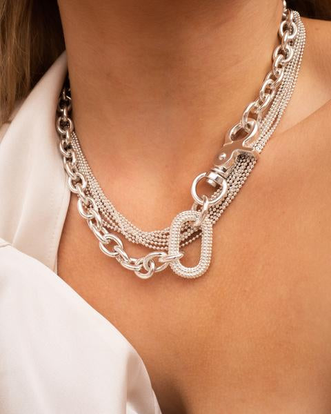 LUV AJ Isla Statement Necklace SILVER-Luv Aj-Frolic Girls