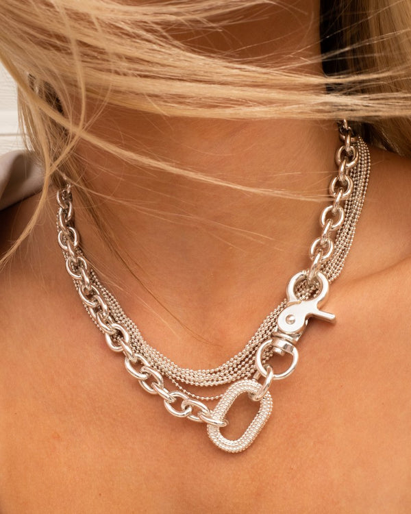 LUV AJ Twisted Bead Necklace in SILVER-Luv Aj-Frolic Girls