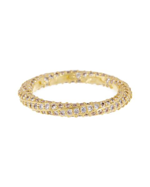 LUV AJ Pave Twisted ring IN GOLD-Luv Aj-Frolic Girls