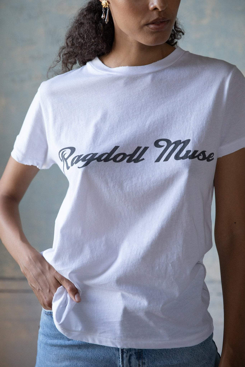 RAGDOLL Easy Vintage Tee OPTIC WHITE MUSE-Ragdoll-Frolic Girls