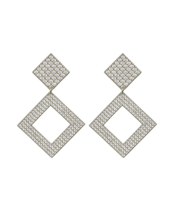 LUV AJ Pave Princess Earrings SILVER-Luv Aj-Frolic Girls