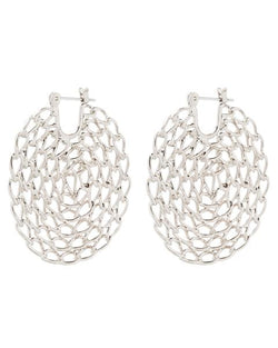LUV AJ Twisted Chain Hoops SILVER-Luv Aj-Frolic Girls