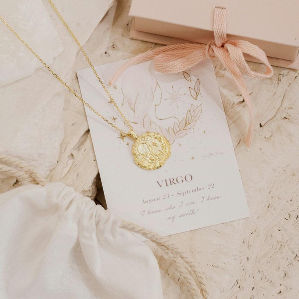 BY CHARLOTTE Virgo Zodiac Necklace GOLD-By Charlotte-Frolic Girls