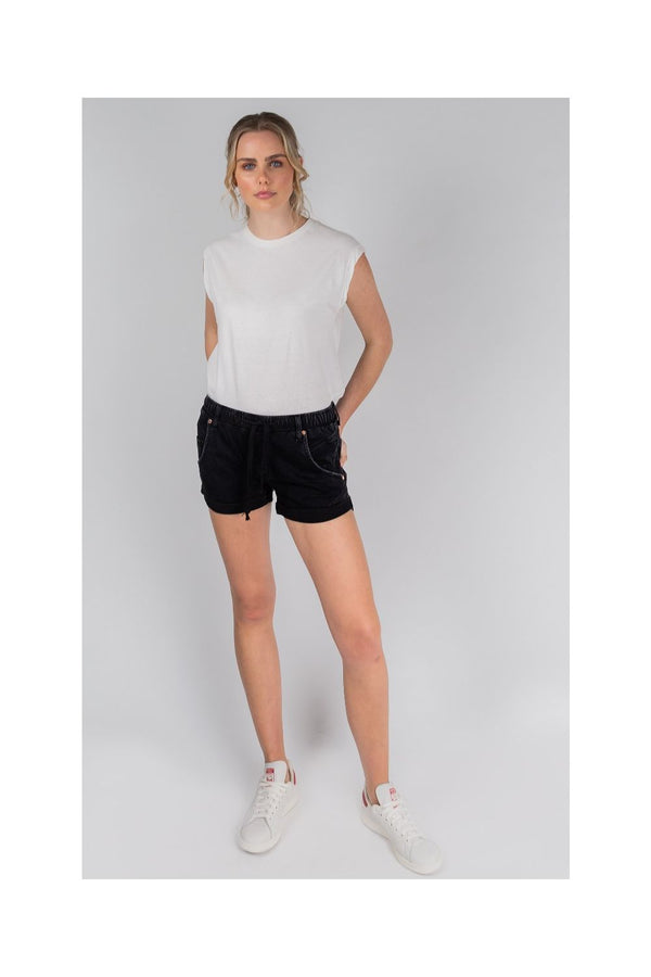 DRICOPER Active Denim Short BLACK-Dricoper-Frolic Girls