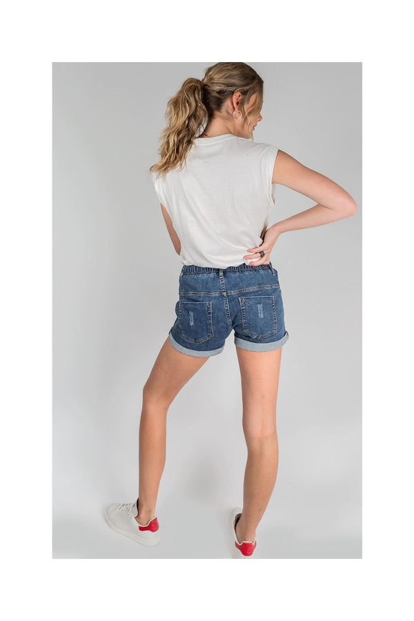 DRICOPER Active Denim Short BLUE-Dricoper-Frolic Girls