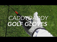 Load and play video in Gallery viewer, Men's White CaddyDaddy Claw Golf Glove