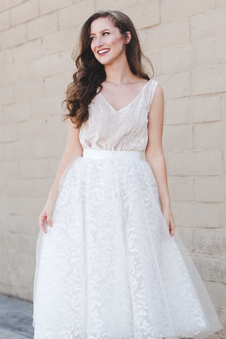 The Princess White Organza Tulle Overskirt