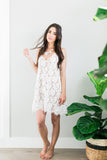 The Avery Lace Cami Dress - White