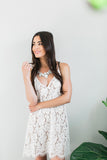 For our babes that are planning a sun-filled beach wedding or elopement, we've made a piece that is perfect for big day.  The Avery Lace Dress keeps you looking bride perfect with the gorgeous cotton blend floral lace and scallop edge detailing. Lined with nude.  From the floral lace pattern and plunging neckline to the flirty scalloped hemline, this pretty dress is the perfect for bridal shower and honeymoon!
