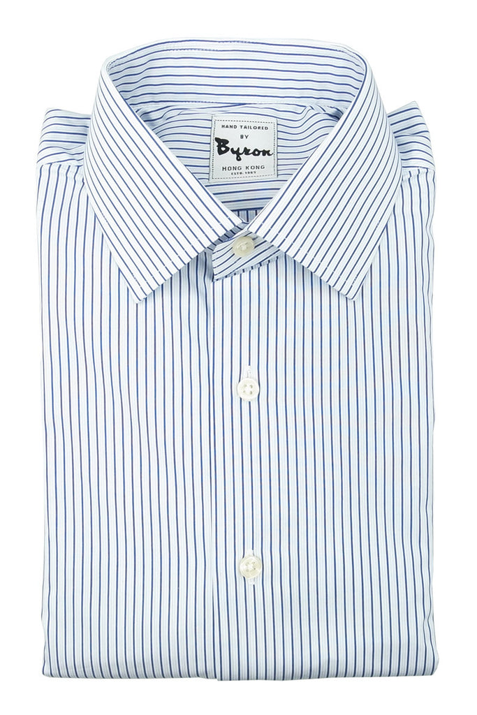 Blue Wrinkle Free Stripe Shirte Shirt