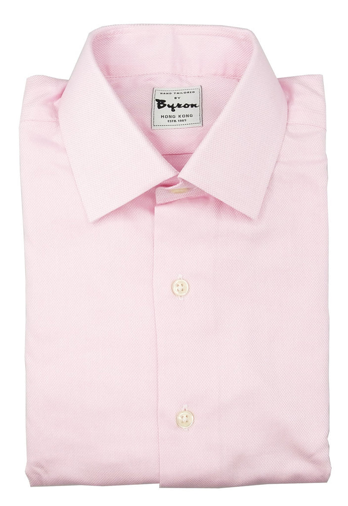 100% Cotton Pink Shirt Forward Point Collar 2 Button Cuff