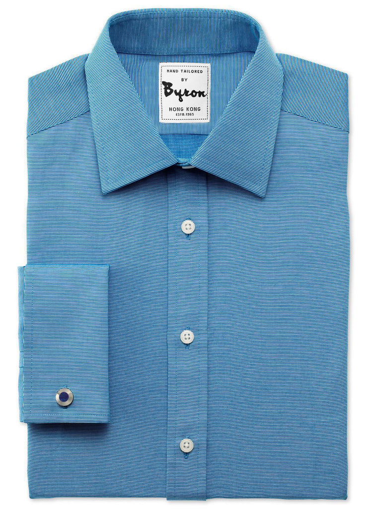 100% Cotton Aquamarine Shirt Forward Point Collar French Cuff