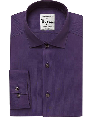 Blackberry Solid Shirt, English Spread Collar, Standard Cuff