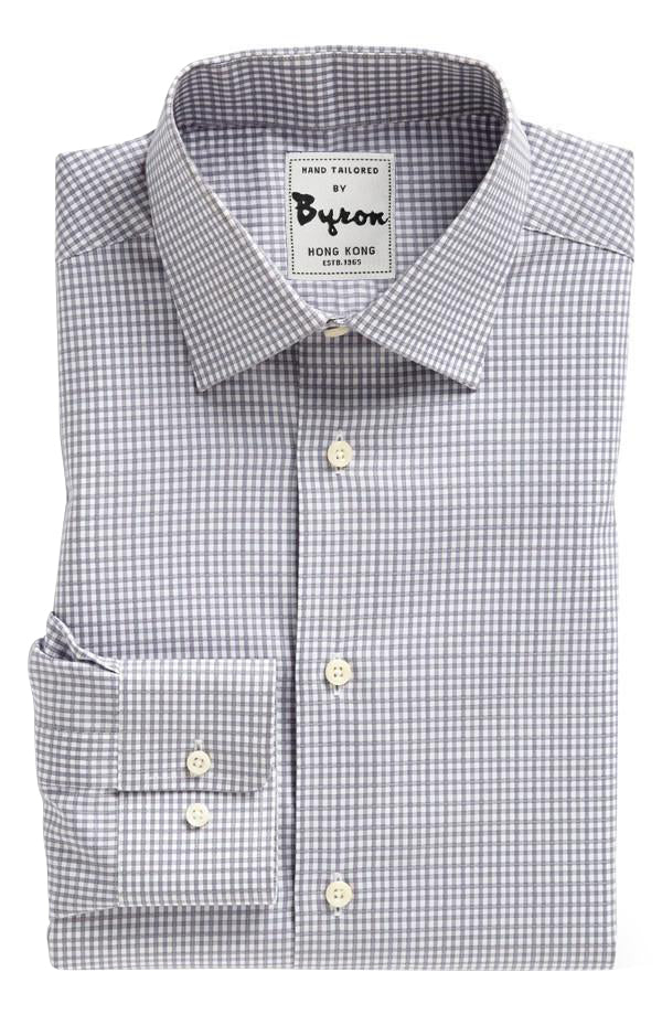 Grey on Grey Gingham Check Shirt