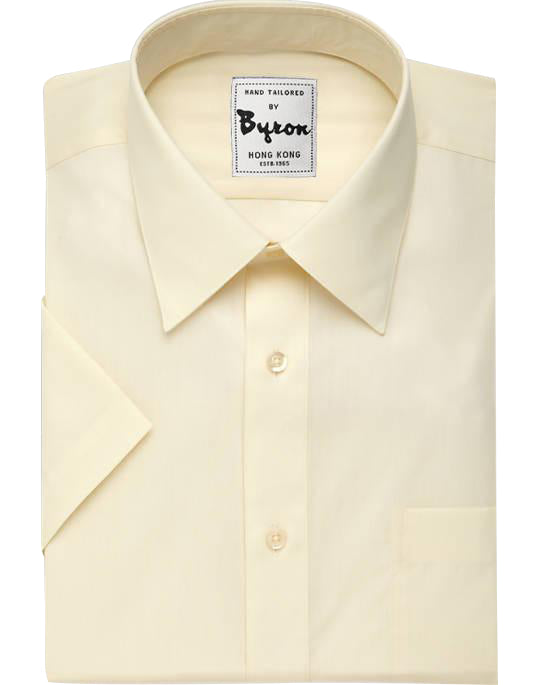 Ivory Color, Short Sleeve, Forward Point Collar