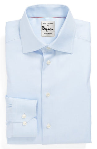 Lt Blue Shirt, English Spread Collar, Angled Cuff