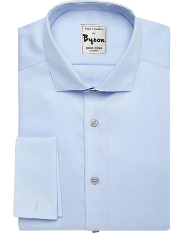 Lt Blue Solid Shirt, English Spread Collar, French Cuff