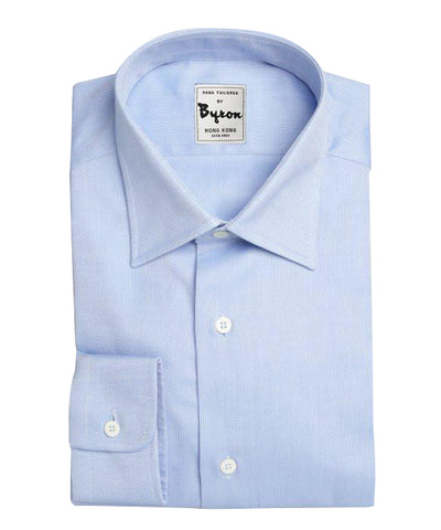 Lt Blue Solid Shirt, Forward Point Collar, Standard Cuff