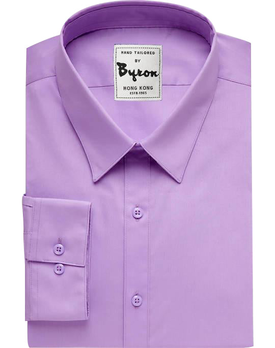 Purple Solid Shirt 01, Forward Point Collar, Standard Cuff