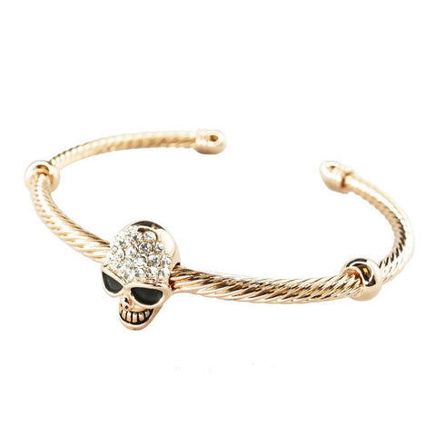 Rose Gold Plated Skull Bracelet
