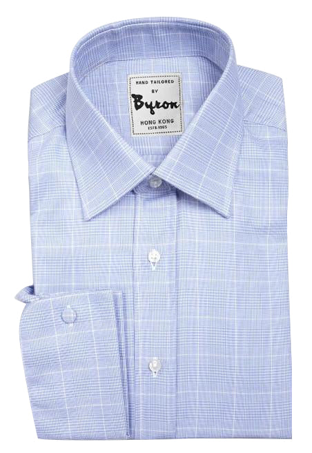Sky Blue Self Exploded Check Shirt