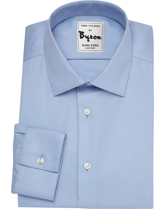Skyblue Solid Shirt, Forward Point Collar, Standard Cuff