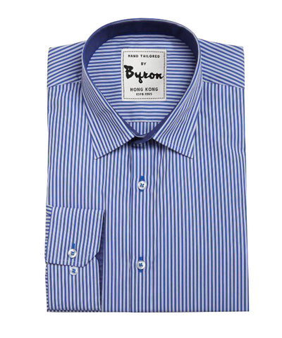 Skyblue and French Blue Striped Shirt