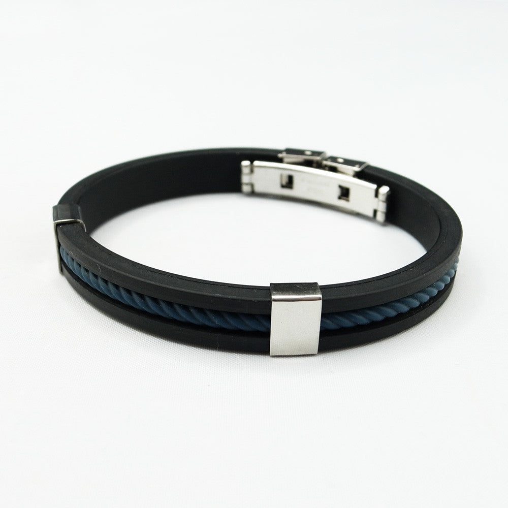 Watch Bracelet Black and Blue Detail