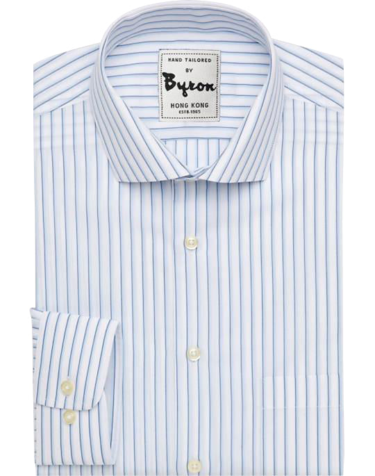 White and Lt blue Striped Shirt